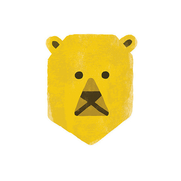 1 #bear #illustration #yellow