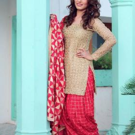 Gorgeous Red and Gold Punjabi Suit Designs Online