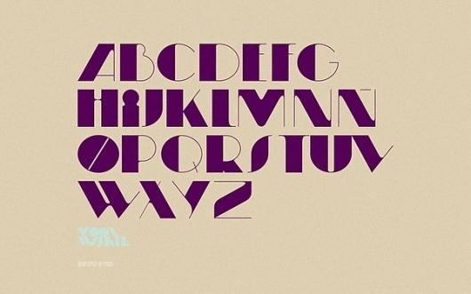 Moonwalker Type on the Behance Network #font #contrast #typography