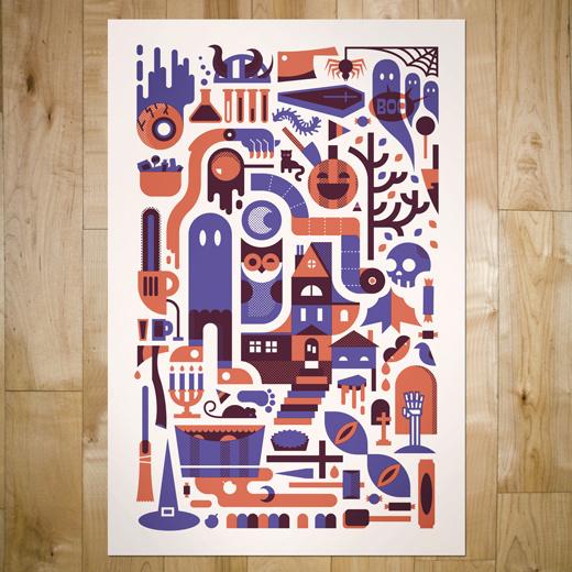 art prints : bandito design co. #illustration #vector #halloween #poster