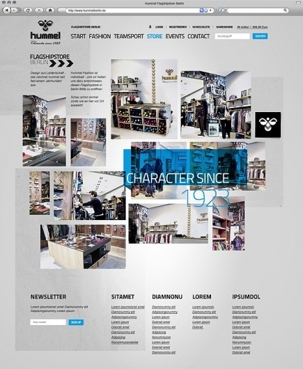 Website Pitch / Hummel on Web Design Served #renebieder #webdesign #hummel