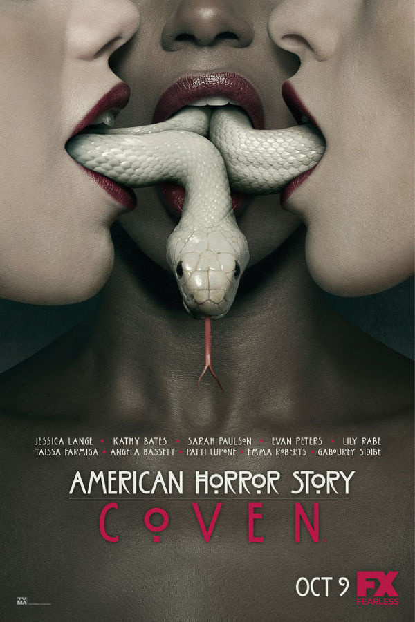 New American Horror Story: Coven Poster #sexy #television #design #horror #american #snake #coven #women #mouths #poster #witchcraft #story