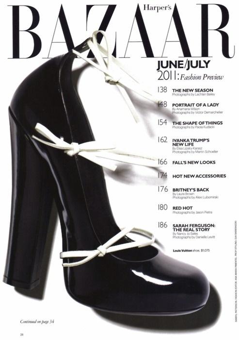 Louis Vuitton Harper's Bazaar, June/July 2011 #shoes #shoe #cover #photography #fashion #bazaar