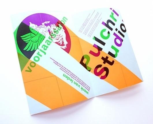Pulchri Studio - Erik de Vlaam - Studio Dumbar #design #graphic #leaflet