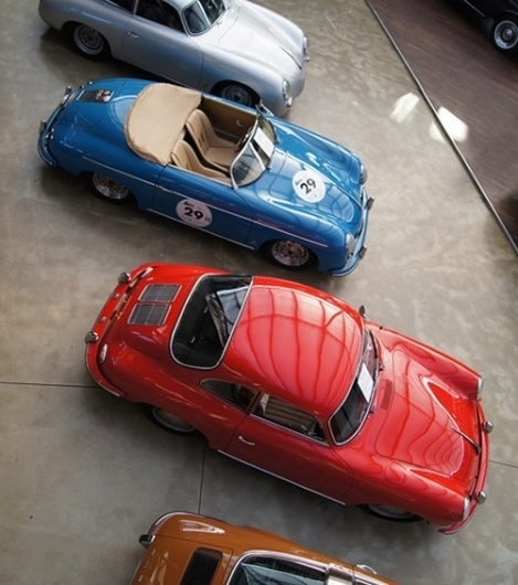 convoy #red #cars #number #vintage #blue #car