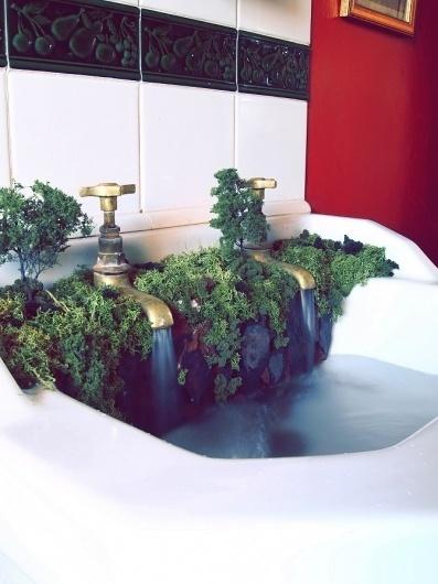 The Sink - Samuel J Ellis - Designer #sink #water #unfarmiliar #farmiliar #forest #waterfall #tap #jungle