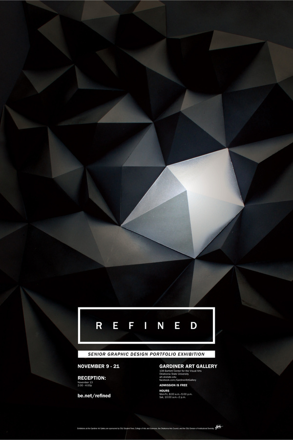 REFINED Exhibition Poster #poster