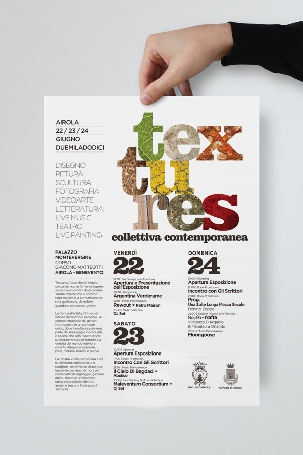 Textures Collettiva Contemporanea on the Behance Network #festival #design #graphic #contemporary #textures #poster #art #numbers #layout #typography