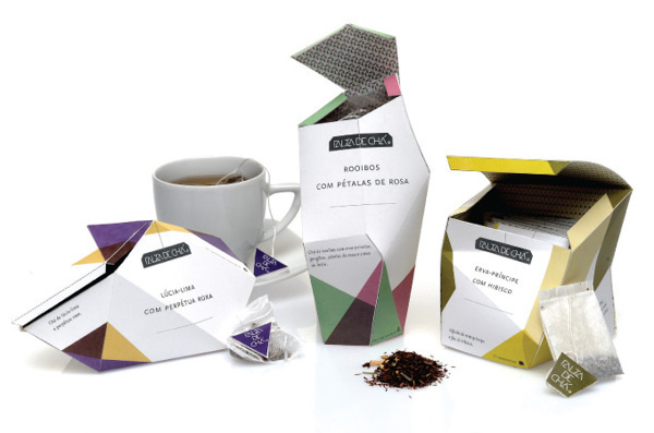 O Gesto e a Embalagem on Behance #packaging #design #cubism #tea #multifaceted