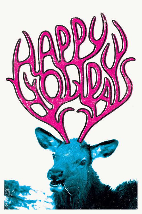 Holiday Card 2011 #antlers #deer #card #print #woods #christmas #holiday #humor
