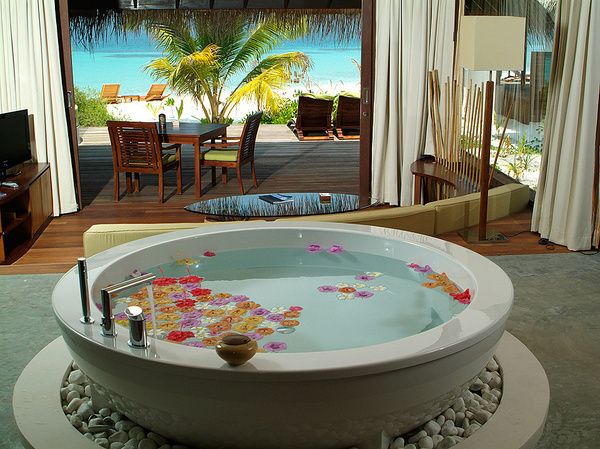 Desired bathroom atmosphere - Bathroom Flavours #interior #design #bathroom #bathtub #decoration