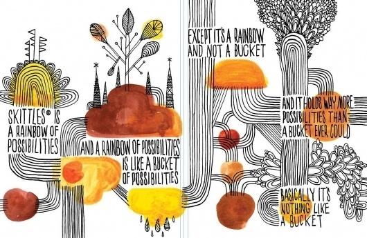 5-95bed38e5a.jpg (1385×903) #brand #illustration #book #skittles