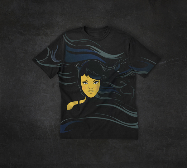 Raven girl #design #tshirt #raven #girl