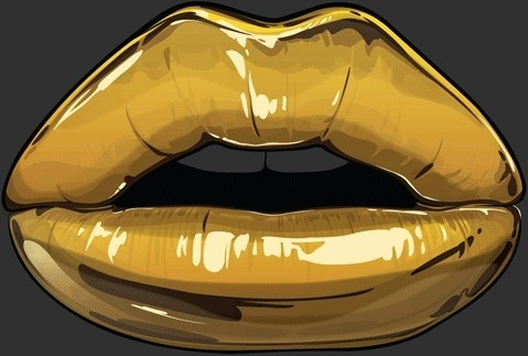 Goldie series by Gaks #animation #illustration #lips #gold