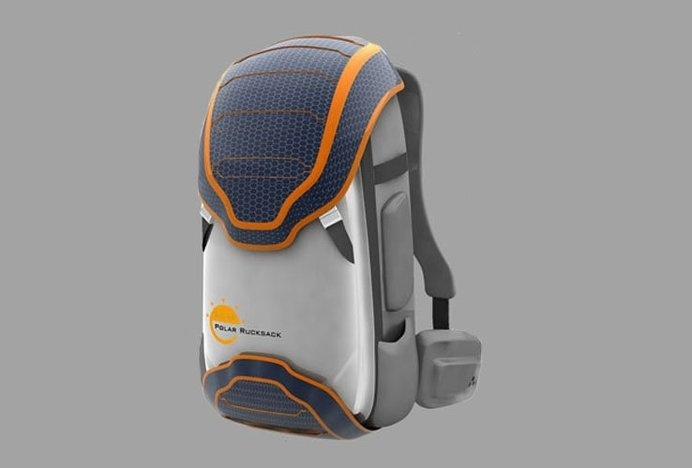 Designed for mountaineers and extreme sport buffs, Solar Rucksack is a backpack that uses solar energy to keep you warm in the most extreme #modern #mountaineering #lifestyle #design #backpack #product #industrial #style