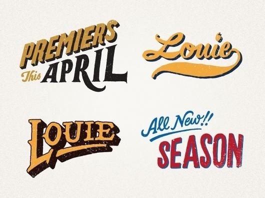 Louie - Jon Contino, Alphastructaesthetitologist #lettering #jon #contino #louie #ck #louis #hand #typography