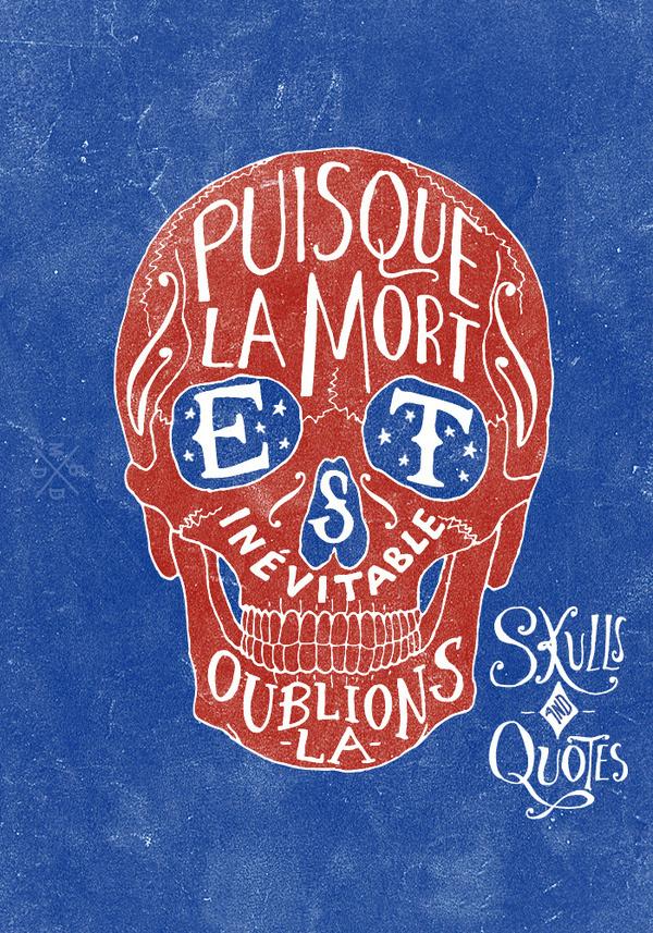 Skulls #skull #design #typography