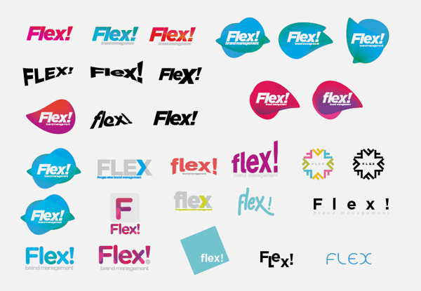 FLEX!® Take control of your brand on Behance #logo #concept #identity