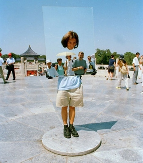 Best Photos Without Photo Manipulation- #mirror #floating #head #art