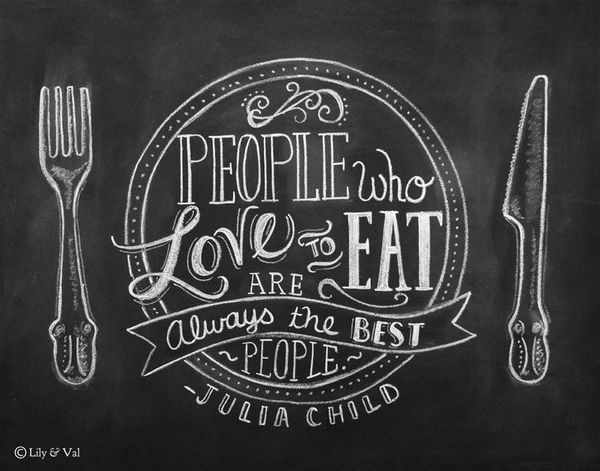 Chalkboard lettering. Love to eat! #lettering #blackboard #eat #food #love