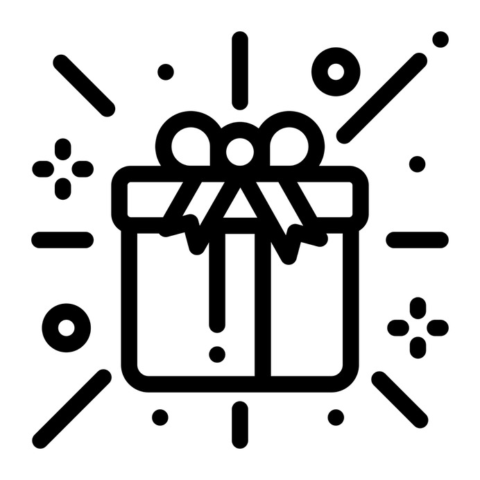 See more icon inspiration related to gift, present, birthday, birthday and party, christmas presents and surprise on Flaticon.