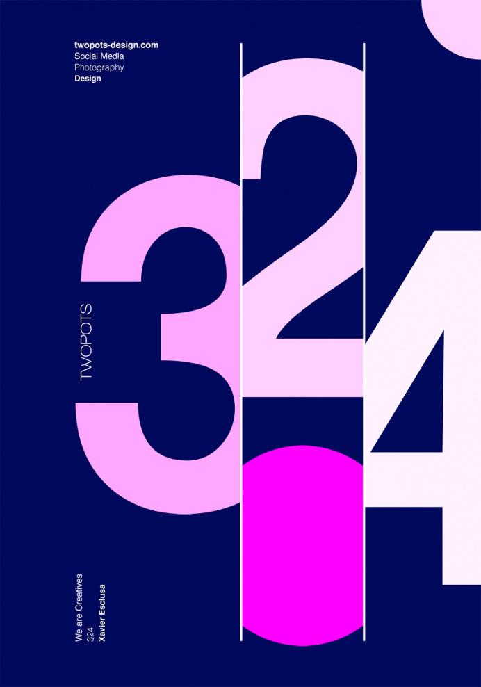 Twopots Design Studio Poster by Xavier Esclusa