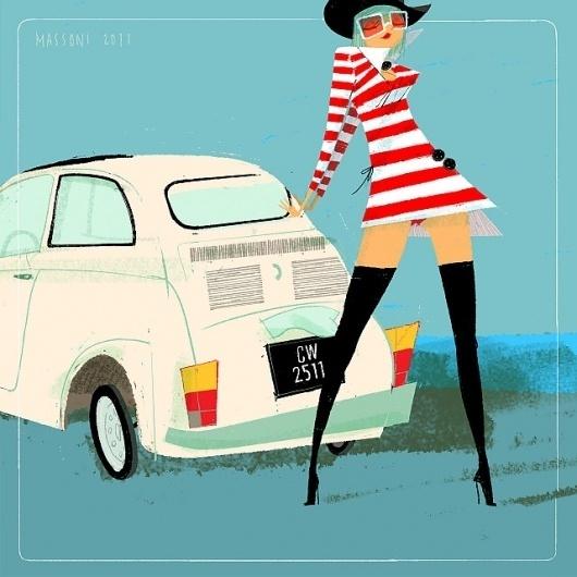 SketchThisOut by Simone Massoni | chicks'n'wheels #massoni #design #simone #chicks #illustration #art
