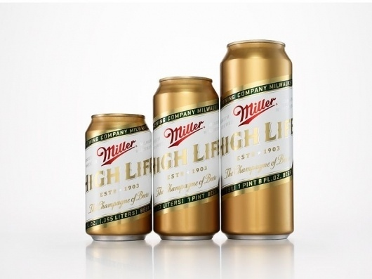 "Miller High Life ""The Champagne of Beers"" Re-Design - COLT + RANE #packaging"