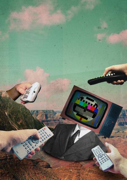 Control freak #modern #surrealism #vintage #art #collage
