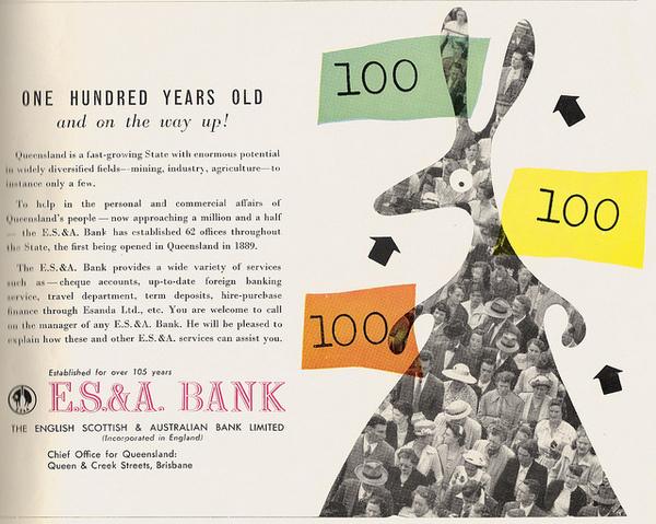 100 years old #kangaroo #illustration #bank