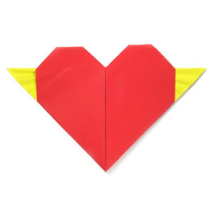 How to make an origami heart with tiny wings (http://www.origami-make.org/howto-origami-heart.php)
