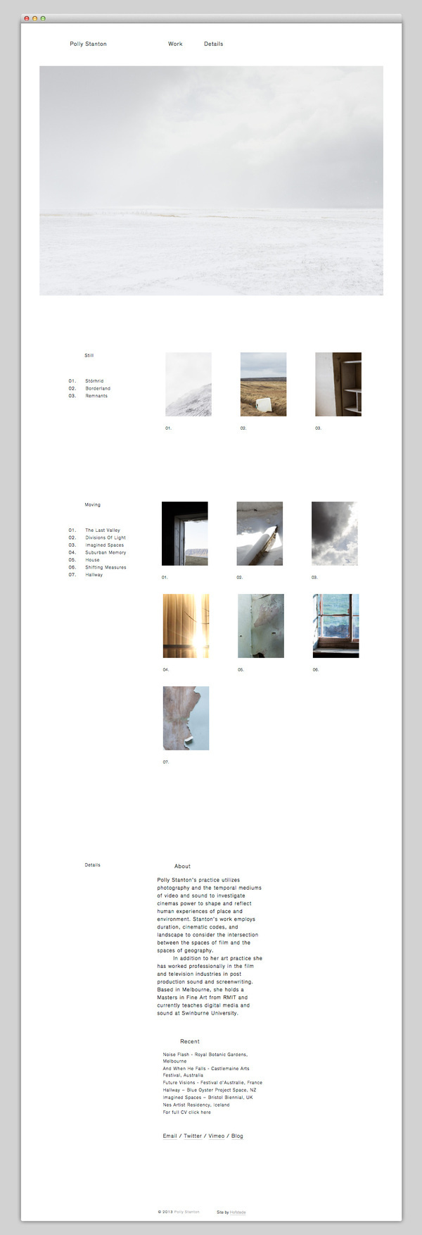 Polly Stanton #website #layout #design #web