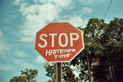 YIMMY'S YAYO™ #sign #time #stop #hammer #mc