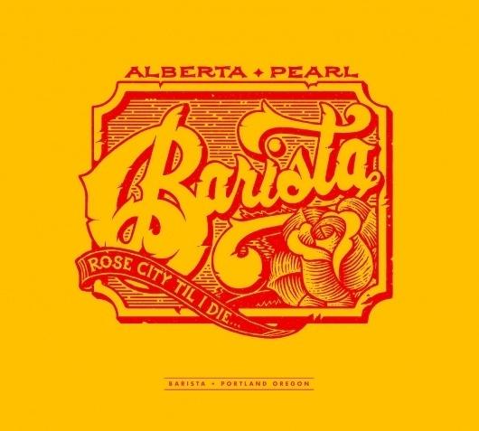 All sizes   Barista - Rose City Til I Die   Flickr - Photo Sharing! #type #peter #brett #logo