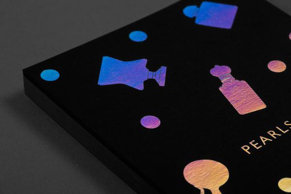 Pearls & Perfumes #card #design #metallic