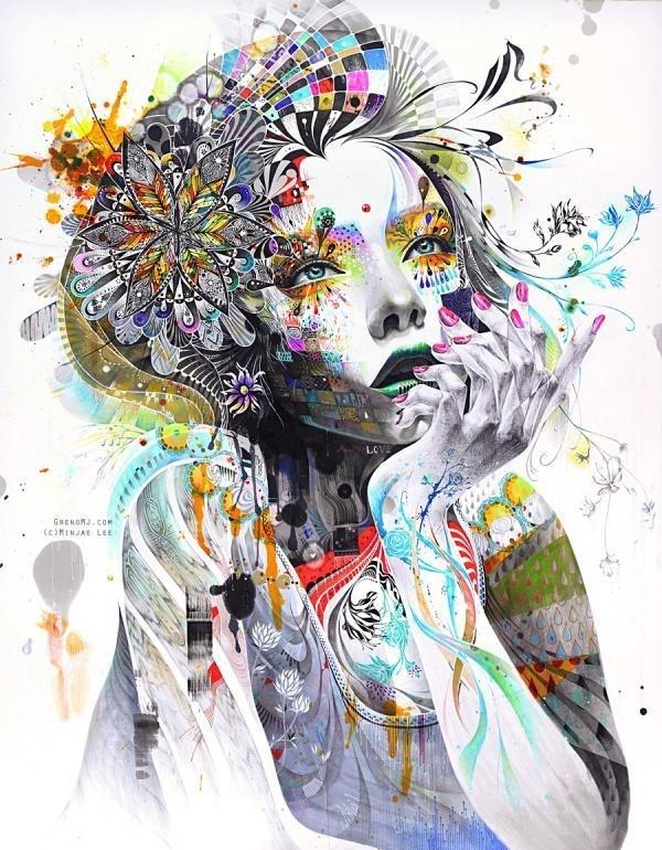Mixed Media Illustrations by Minjae Lee #lee #illustrations #mixed #minjae #media