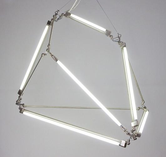 TRIANGULATION BLOG #lamp #installation #brittain #bec #light #neon