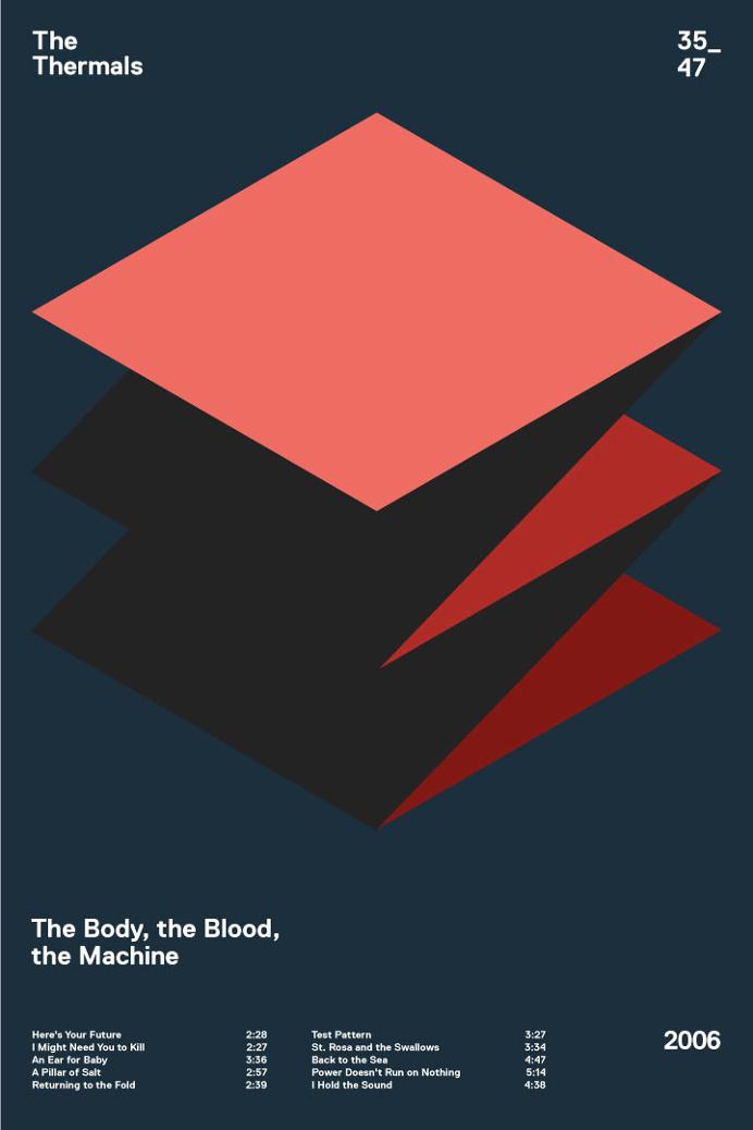 swissritual.ca #swissritual #graphic #design #minimal #music #grid #poster #swiss #illustration #thethermals