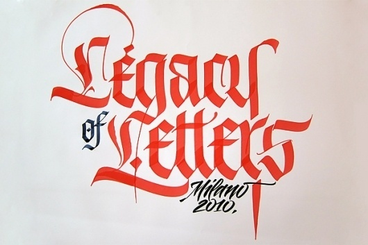 FRESHNGOOD.COM » Luca Barcellona 'Legacy Of Letters' Fraktur Writing Video #calligraphy #barcellona #luca #typography