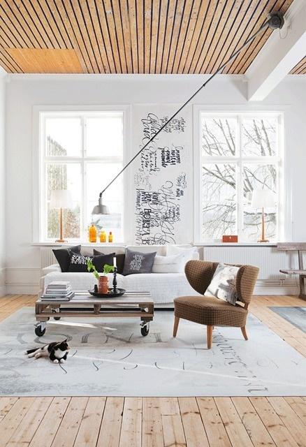 (via La maison d #interior #white #black #clean #brown #minimal #grey