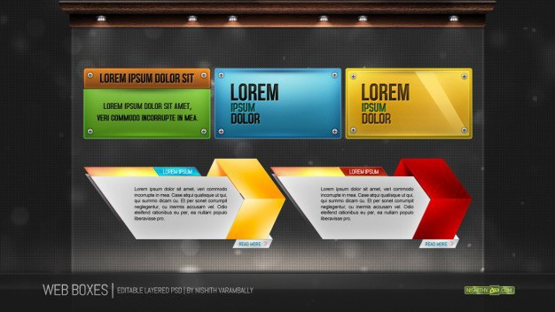 Web boxes psd Free Psd. See more inspiration related to Web, Psd, Boxes and Horizontal on Freepik.