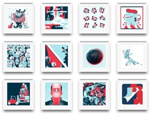 Gifted #print #calendar #illustration