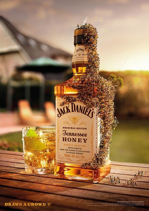 Jack Daniels 'Draws a Crowd' #inspiration #digital #art #advertising