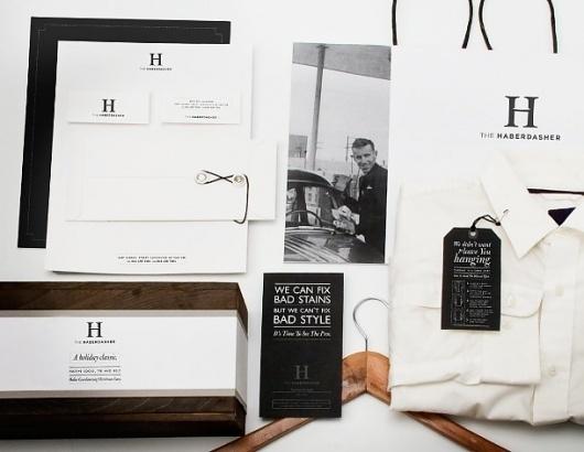 Paone Creative   Communication Design #haberdasher #logo #print #identity