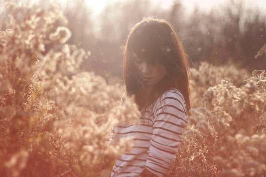 Untitled | Flickr - Photo Sharing! #field #woman #photography #nature #flowers