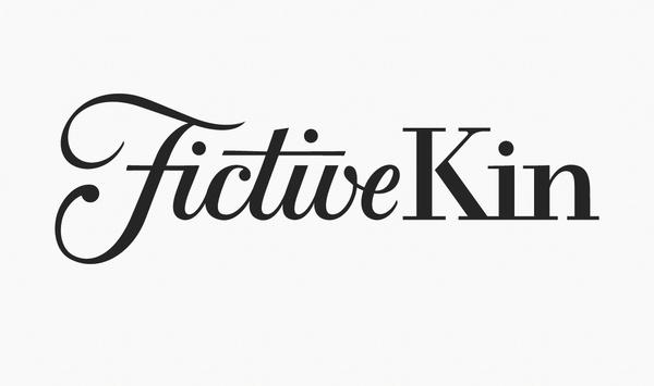 Fictive Kin Identity #logotype #lettering #script #serif #hand #typography