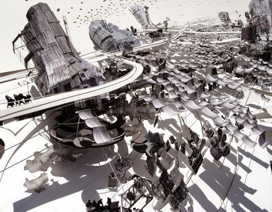 luxor market : julian busch #julian #model #cut #busch #market #architecture #luxor #paper #detail