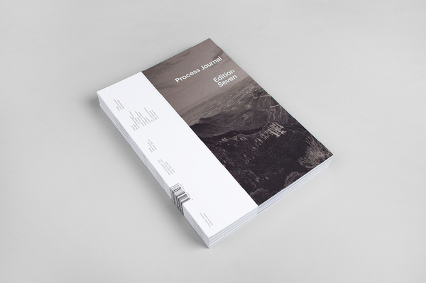 Process Journal: Edition Seven #print #design #journal #publication #cover #alignment #layout #editorial