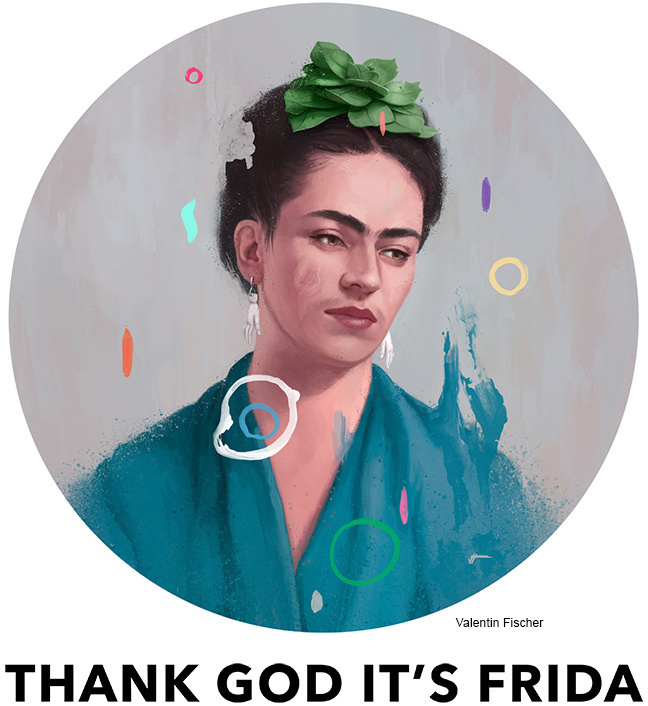 Frida Art Show #confetti #spain #mexico #classic #design #illustration #art #painting #circle #colour #frida #beauty