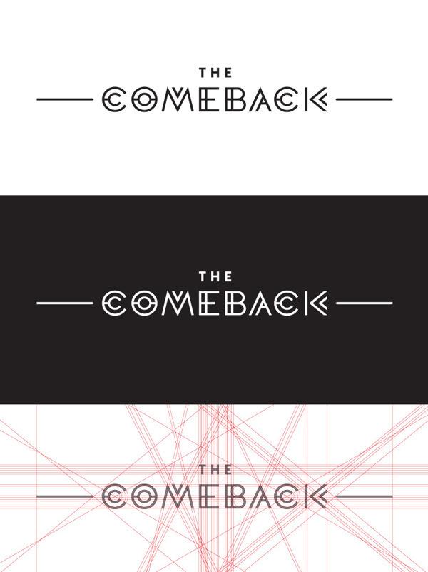 Comeback Identity on Behance #type #comeback #geometric #typography
